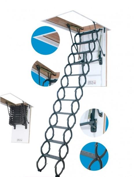 60x120 cm ZPRT (patalpos aukštis H 250-280cm) Palėpės laiptai