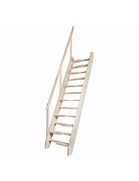 Stacionarūs mediniai laiptai MSA  70x140 cm (angos lubose minimalūs matmenys)