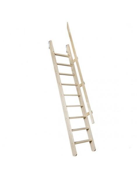Stacionarūs mediniai laiptai MSP  70x140 cm (angos lubose minimalūs matmenys)