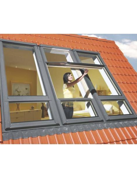 78x235 cm Duet proSky stogo langas FDY-V U3 su pakelta atidarymo ašimi ir langu apačioje