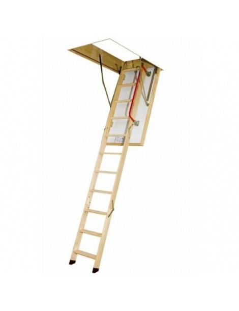 60x130 cm (patalpos aukštis H iki 305 cm) Sudedami segmentiniai palėpės laiptai su medinėmis kopėčiomis LWZ Plus