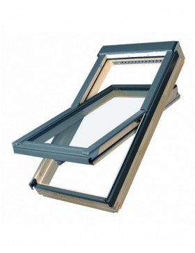 66x98 cm  Apverčiamas medinis stogo langas FTP-V L3