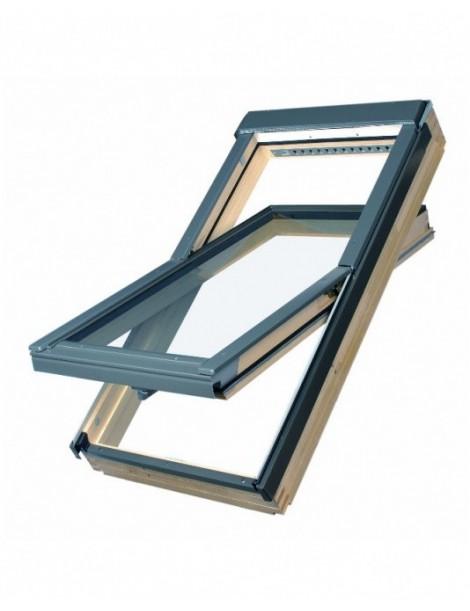 114x118 cm Apverčiamas medinis stogo langas FTP-V L3