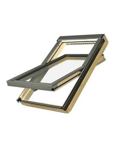 78x140 cm Apverčiamas medinis stogo langas FTP-V U5