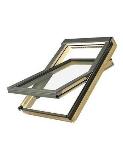 94x118 cm Apverčiamas medinis stogo langas FTP-V U5