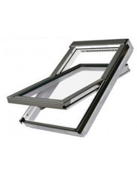 78x140 cm Apverčiamas medinis stogo langas FTU-V U3