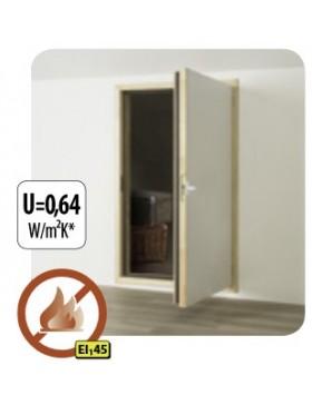60x100 cm Ugniai atsparios karnizinės durys DWF