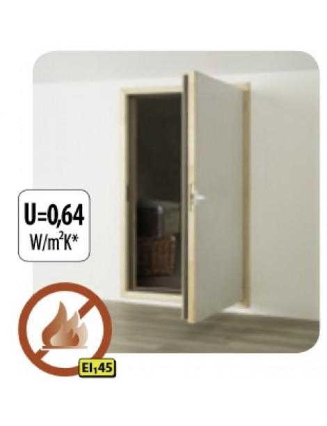 60x110 cm Ugniai atsparios karnizinės durys DWF